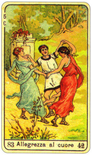 CARD OF L'ALLEGREZZA AL CUORE RIGHT AND REVERSE - READING OF THE GYPSY SIBILLE ON LOVE CAREER LUCK FOR FREE ONLINE