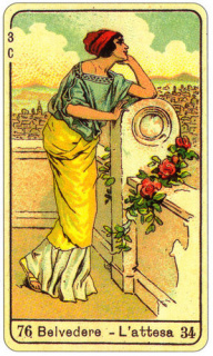 CARD OF BELVEDERE L'ATTESA RIGHT AND REVERSE - READING OF THE GYPSY SIBILLE ON LOVE CAREER LUCK FOR FREE ONLINE