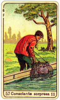 CARD OF LA CONSOLANTE SORPRESA RIGHT AND REVERSE - READING OF THE GYPSY SIBILLE ON LOVE CAREER LUCK FOR FREE ONLINE