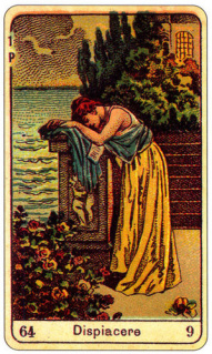 CARD OF DISPIACERE RIGHT AND REVERSE - READING OF THE GYPSY SIBILLE ON LOVE CAREER LUCK FOR FREE ONLINE