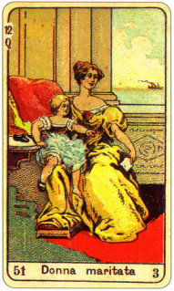 CARD OF LA DONNA MARITATA RIGHT AND REVERSE - READING OF THE GYPSY SIBILLE ON LOVE CAREER LUCK FOR FREE ONLINE