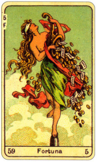 CARD OF LA FORTUNA RIGHT AND REVERSE - READING OF THE GYPSY SIBILLE ON LOVE CAREER LUCK FOR FREE ONLINE