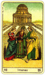 CARD OF L'IMENEO RIGHT AND REVERSE - READING OF THE GYPSY SIBILLE ON LOVE CAREER LUCK FOR FREE ONLINE