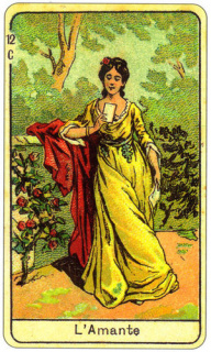 CARD OF L'AMANTE DONNA DIRITTO E ROVESCIO - READING OF THE GYPSY SIBILLE ON LOVE CAREER LUCK FOR FREE ONLINE