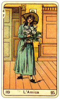 CARD OF L'AMICA RIGHT AND REVERSE - READING OF THE GYPSY SIBILLE ON LOVE CAREER LUCK FOR FREE ONLINE