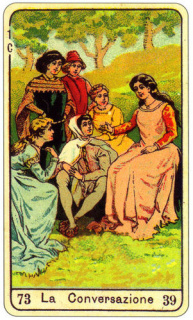 CARD OF LA CONVERSAZIONE RIGHT AND REVERSE - READING OF THE GYPSY SIBILLE ON LOVE CAREER LUCK FOR FREE ONLINE