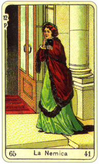 CARD OF LA NEMICA RIGHT AND REVERSE - READING OF THE GYPSY SIBILLE ON LOVE CAREER LUCK FOR FREE ONLINE