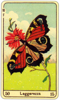 CARD OF LA LEGGEREZZA RIGHT AND REVERSE - READING OF THE GYPSY SIBILLE ON LOVE CAREER LUCK FOR FREE ONLINE