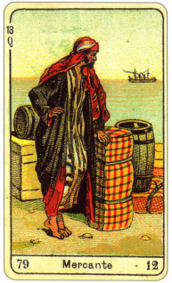 CARD OF MERCANTE RIGHT AND REVERSE - READING OF THE GYPSY SIBILLE ON LOVE CAREER LUCK FOR FREE ONLINE