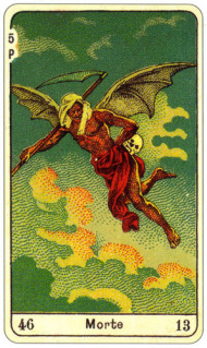 CARD OF LA MORTE RIGHT AND REVERSE - READING OF THE GYPSY SIBILLE ON LOVE CAREER LUCK FOR FREE ONLINE