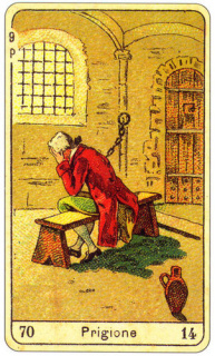CARD OF LA PRIGIONE RIGHT AND REVERSE - READING OF THE GYPSY SIBILLE ON LOVE CAREER LUCK FOR FREE ONLINE