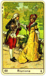 CARD OF LA RIUNIONE RIGHT AND REVERSE - READING OF THE GYPSY SIBILLE ON LOVE CAREER LUCK FOR FREE ONLINE