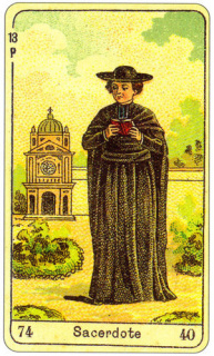 CARD OF SACERDOTE RIGHT AND REVERSE - READING OF THE GYPSY SIBILLE ON LOVE CAREER LUCK FOR FREE ONLINE