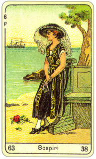 CARD OF SOSPIRI RIGHT AND REVERSE - READING OF THE GYPSY SIBILLE ON LOVE CAREER LUCK FOR FREE ONLINE