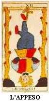 HANGED MAN - RIGHT AND REVERSE - THE BEST FREE ONLINE TAROT CARD READING FOR LOVE CAREER LUCK